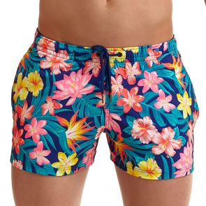Funky Trunks Men's Shorty Swim Shorts FT40M Aloha Brah