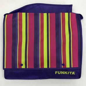 Funkita Striped Messenger Satchel Bag Purple