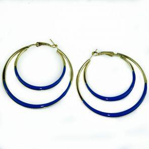 Ivys Tilly Hoop Earrings ER409 Blue/Gold