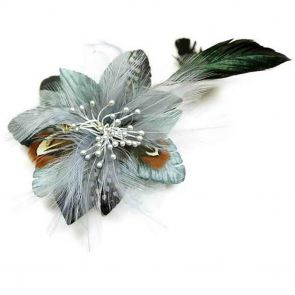 Ivys Bonnie Fascinator HA385 Grey