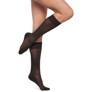 Kayser Leg Support Opaque Knee Hi's H10111 Black