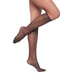 Kayser Silky Elastane Knee Highs 2-Pack H10202 Nearly Black