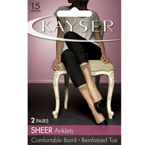 Kayser Sheer Anklets 2-Pack H10203 Nearly Black