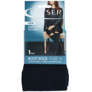 Kayser Cotton Rich Boot Sock H10210 Black