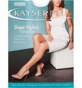 Kayser Plus Sheer Nylon Pantyhose H10840 Almond