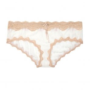 HEIDI By Heidi Klum Mesh With Lace Hipster H308-1168B Pristine/Toasted Almond