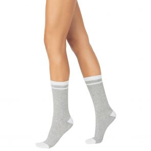 Sheer Relief Cushion Crew Sock 2-Pack H3109N Black and Grey