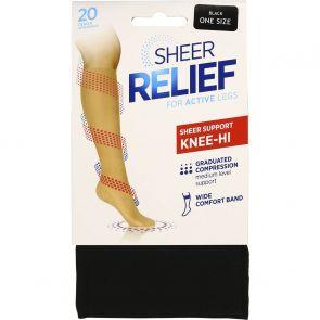 Sheer Relief Sheer Support Knee Hi H33085 Black