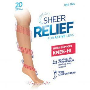 Sheer Relief Support Knee Hi H33085 Mini Beige