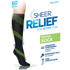 Sheer Relief Trouser Sock H33087 Mini Beige