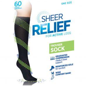 Sheer Relief Cotton Sole Trouser Sock H33087 Mini Beige