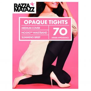 Razzamatazz 70D Perfectly Matte Opaque Tights Firm Slimming H80022 Black