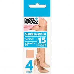 Razzamatazz Pairs & Spares Knee-High 4-Pack H80042 Black