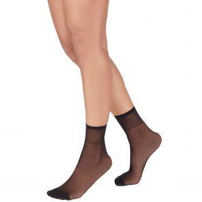 Razzamatazz Sheer Nylon Anklet 2-Pack H80044 Black