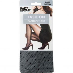 Razzamatazz Fashion Pattern Tight H80073 Black
