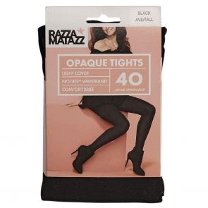 Razzamatazz 40D Comfort Brief Opaque Tights H80077 Black