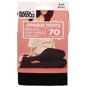Razzamatazz 70D Opaque Tights Comfort Brief H80078 Black