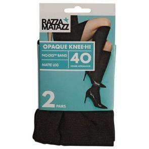 Razzamatazz 40D Opaque Knee Hi 2-Pack H80089 Black