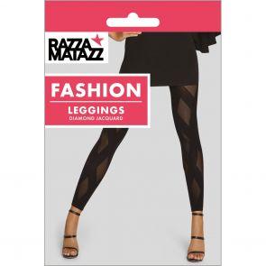 Razzamatazz Diamond Jacquard Leggings H80099 Black