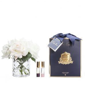 Cote Noire Herringbone Flower Clear HCF07 Blush and White Roses