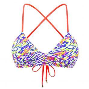 Heaven Swim Tri Strap Crop H081701 Neon Tribe
