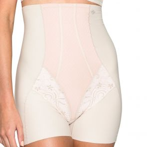 Hush Hush by Slimform Grace Lattice High Waist Boyleg Nude HH027