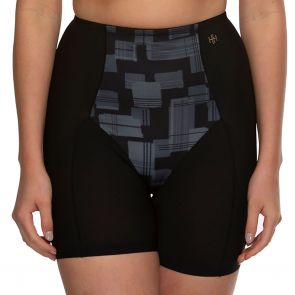 Hush Hush by Slimform Eden Medium Control Boyleg Brief HH041 Geo Black