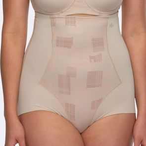 Hush Hush by Slimform Eden Medium Control High Waist Brief HH042 Geo Nude