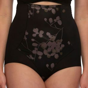 Hush Hush by Slimform Eden Medium Control High Waist Brief HH042 Floral Black