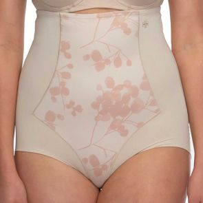 Hush Hush by Slimform Eden Medium Control High Waist Brief HH042 Floral Nude