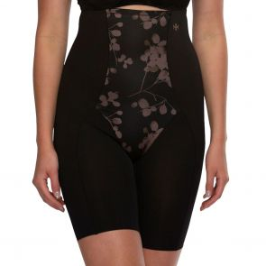 Hush Hush by Slimform Eden Medium Control Thigh Shaper HH043 Black Floral
