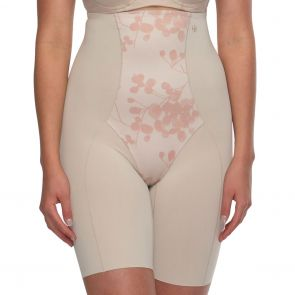 Hush Hush by Slimform Eden Medium Control Thigh Shaper HH043 Nude Floral