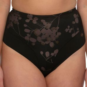 Hush Hush by Slimform Eden Medium Control Thong Back Brief HH046 Geo Black