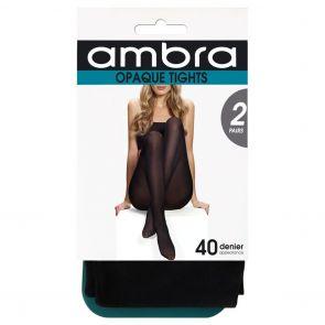 Ambra Tight Opaque 2-Pack 2P40DOPTI Black