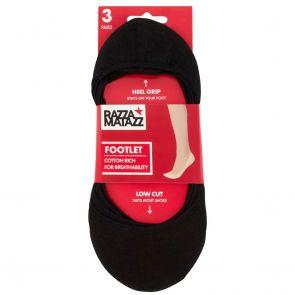 Razzamatazz Footlet 3-Pack HXU63G Assorted