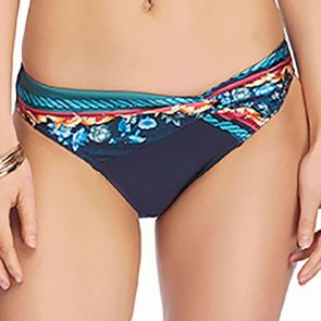 Jets Finesse Twist Front Bikini Swim Bottoms J3676 Navy