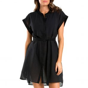 Jets Parallels Shirt Dress J60450 Black