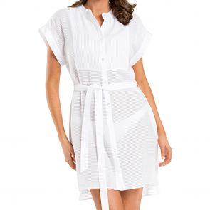 Jets Parallels Shirt Dress J60450 White