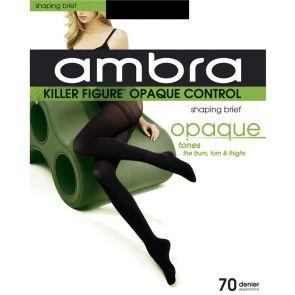 Ambra Killer Figure Opaque Control Tights KILFOP Black