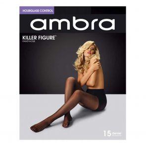 Ambra Killer Figure Hourglass Control Pantyhose Black AKILFH