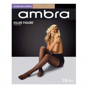 Ambra Killer Figure Hourglass Control Tights AKILFH Natural