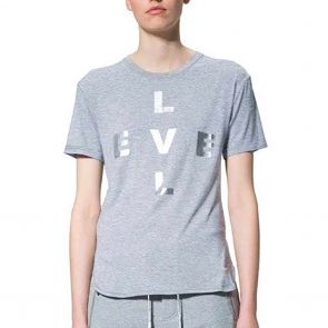 LEVEL Ashley Unisex Tee L1318 Grey Marle