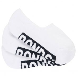 Bonds Womens Logo Sneaker Socks 3-Pack LYAV3N White