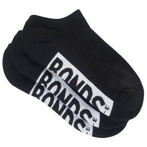 Bonds Womens Logo No Show Socks 3-Pack LYAW3N Black