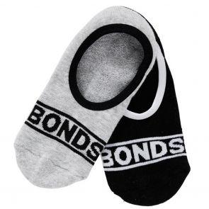 Bonds Womens Sneaker Sock 2-Pack LYTA2N Black and Grey