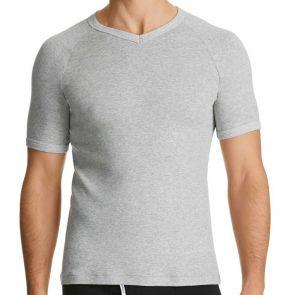 Bonds V-Neck Raglan T-Shirt M976 Grey Marle