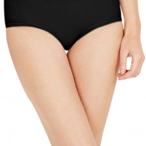 Nearly Nude Thinvisible Perfectly Smoothing Cotton Midi NNTVPCMB Black