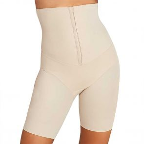 Miraclesuit Shapewear Inches Off Hi Waist Cincher Thigh Slimmer 2726 Nude