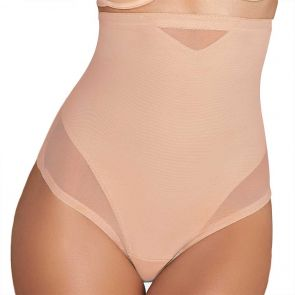 Miraclesuit Shapewear Sheer Shaping X-Firm High Waist Thong 2778 Nude