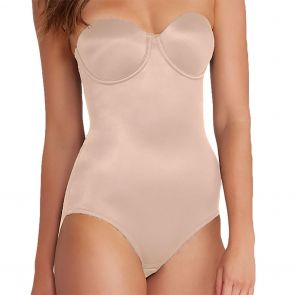 Miraclesuit Shapewear Back Magic Strapless Bodybriefer 2910 Nude